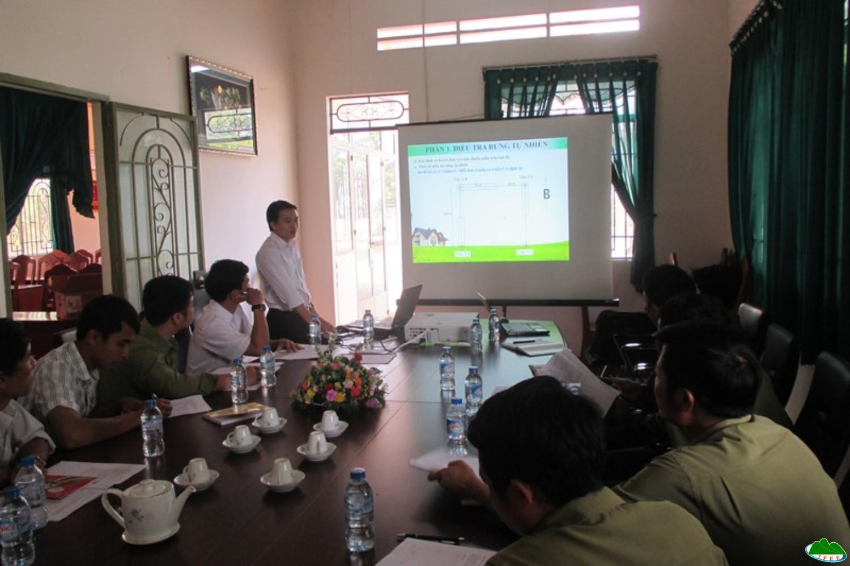 Tập huấn Điều tra rừng trồng và rừng tự nhiên tại Công ty TNHH MTV Lâm nghiệp Di Linh